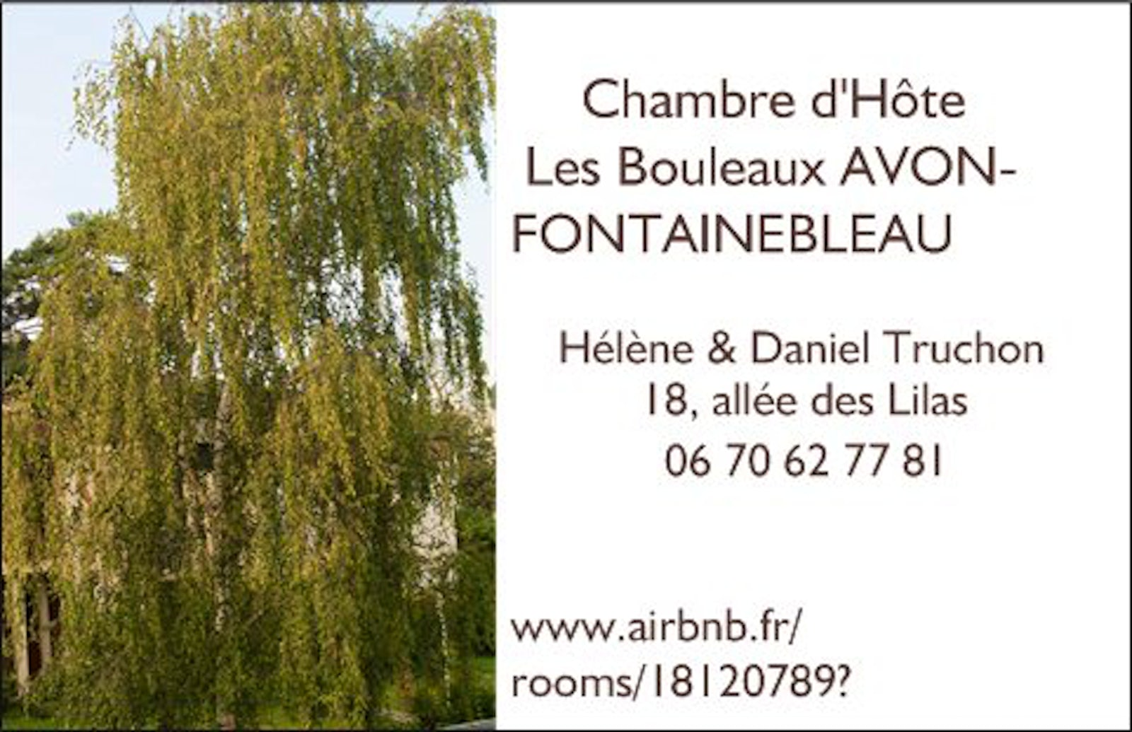 travel inspired location chambre d 39 h te les bouleaux avon fontainebleau itinari. Black Bedroom Furniture Sets. Home Design Ideas