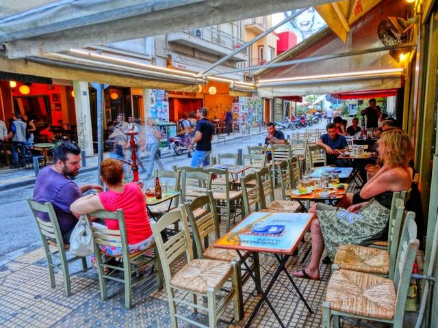 Drink ouzo & eat meze at Psiri