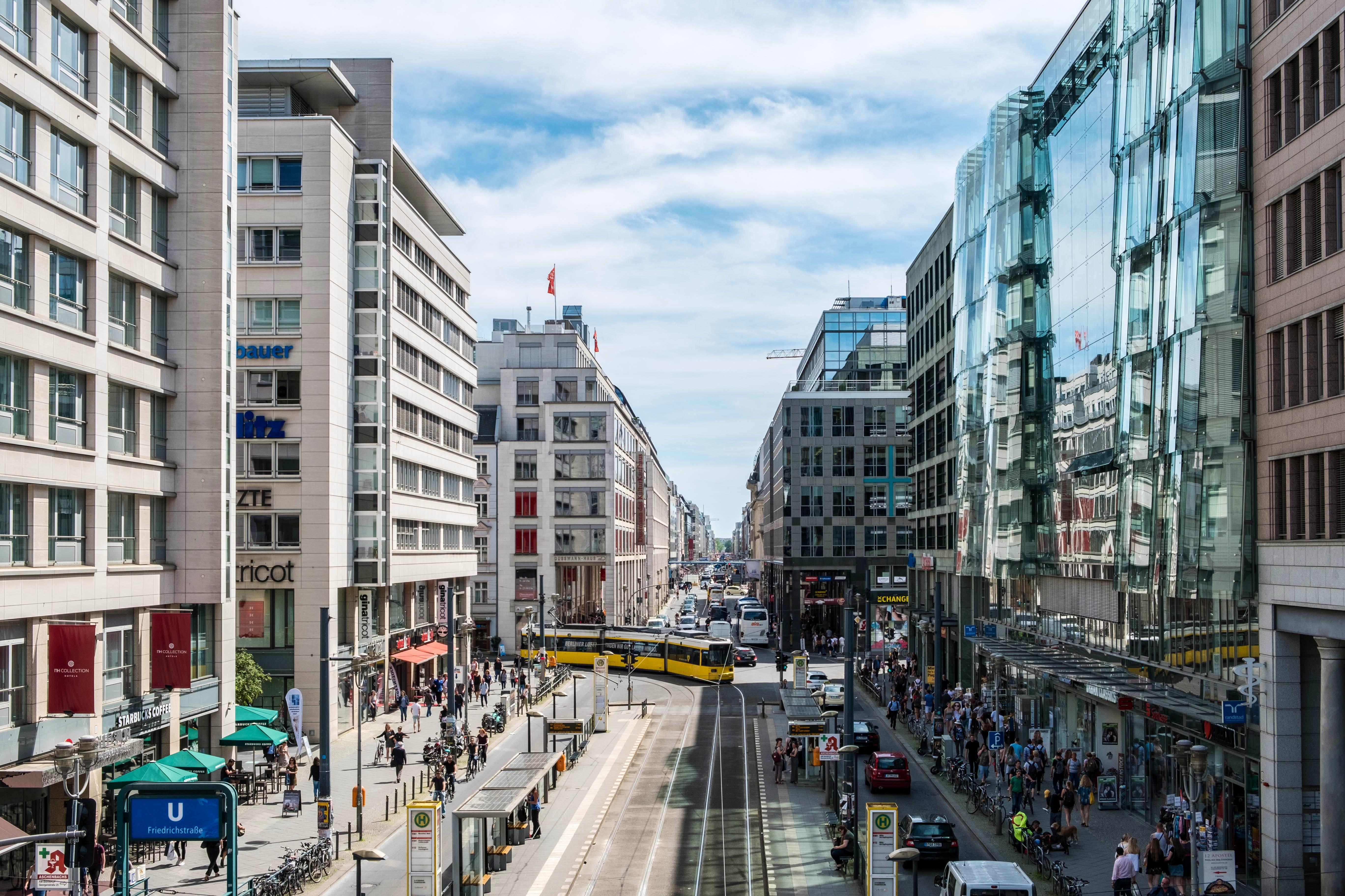 Do shopping in Friedrichstraße
