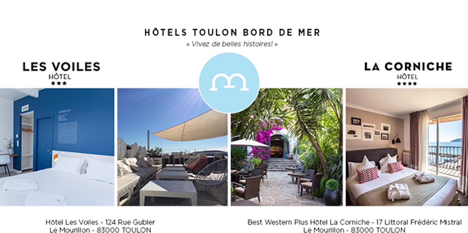 Travel inspired - Location - Hôtels Toulon Bord de Mer   itinari