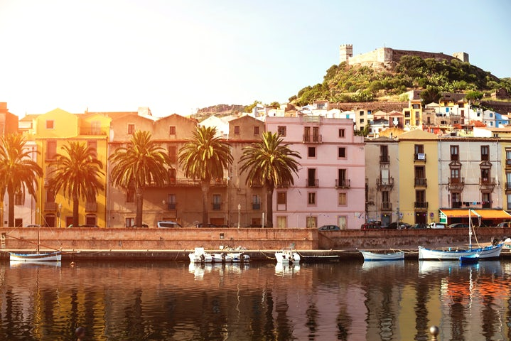 Wander through the old quarter of Bosa