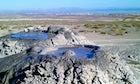 Mud volcanoes in Gobustan