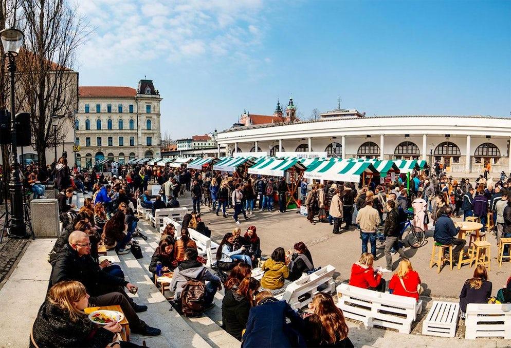 Köstlich! Offene Küche - Lebensmittelmarkt Ljubljana | itinari