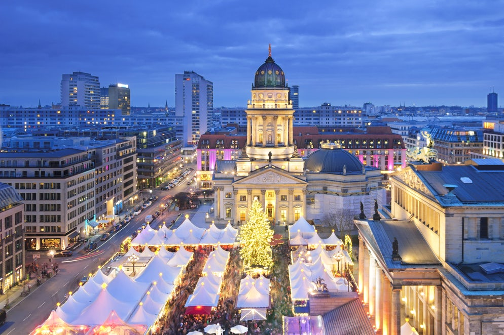 the market is well situated in front of german and french cathedral and schauspielhaus an amazing view from above if you stay at park inn hotel - Christmas Market Dc