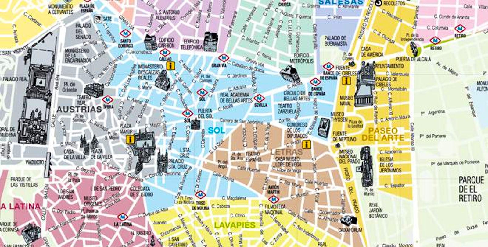 Madrid\'s barrios (neighborhoods)   itinari