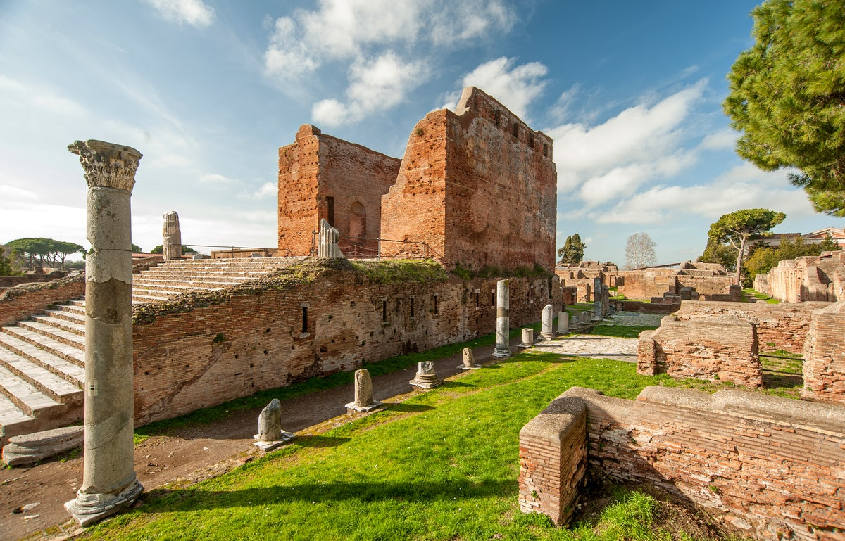 Ostia Antica And Its Roman Ruins