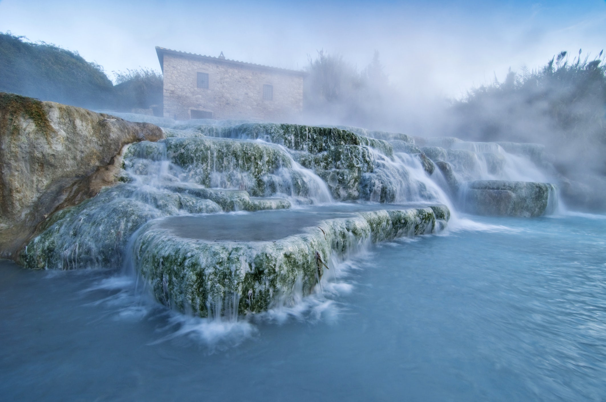 Hot thermal springs in South Tuscany