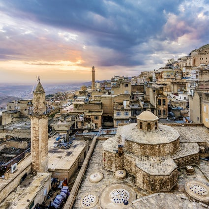 Through the ancient limestone rocks, Mardin
