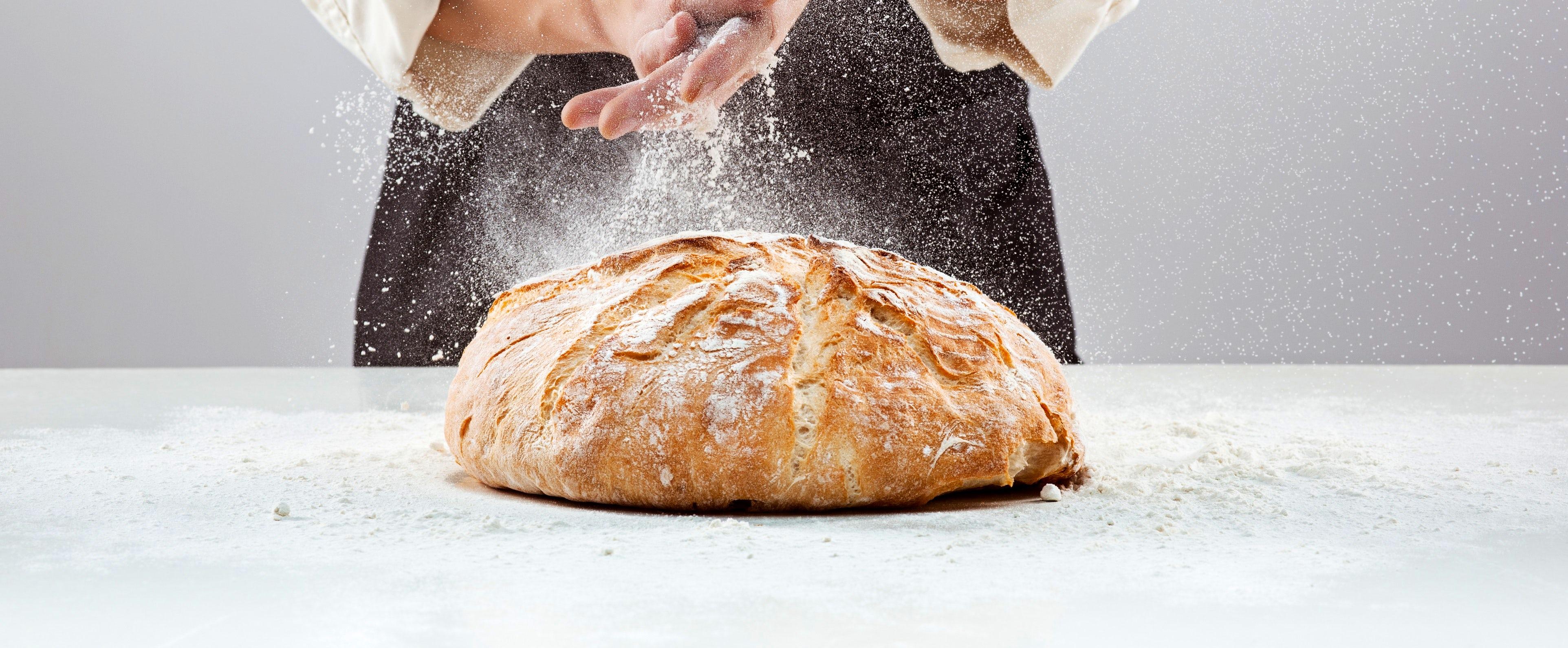Traditional Serbian bread pogaca