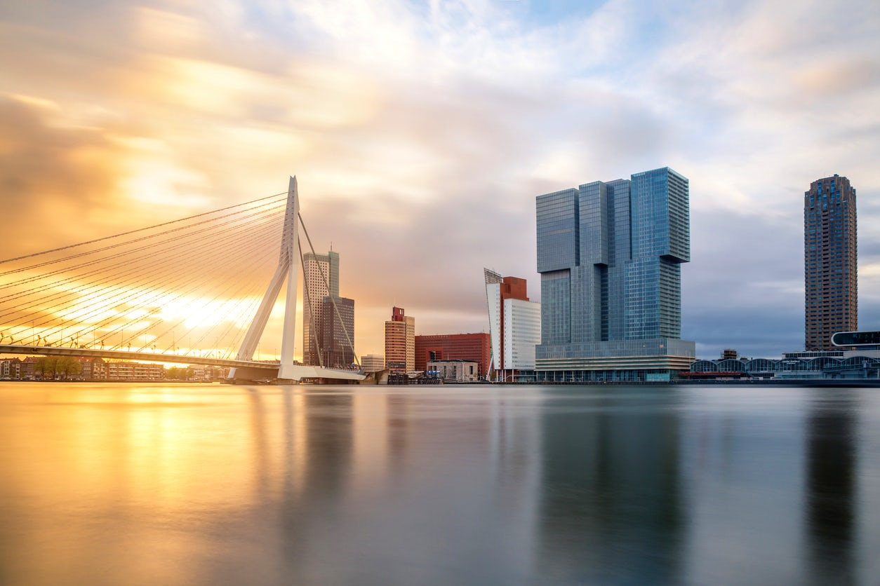 First time in Rotterdam, the Netherlands