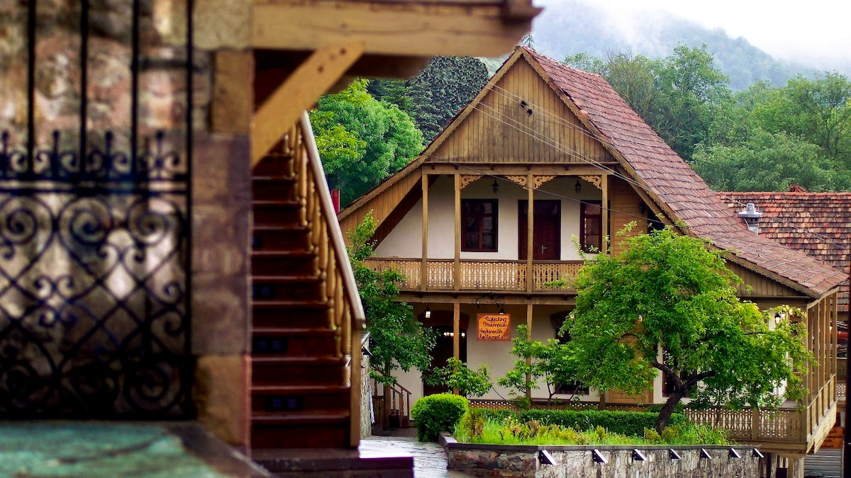 Dilijan- city in a forest