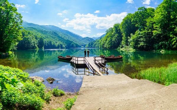 The perfect walk at Lake Biograd
