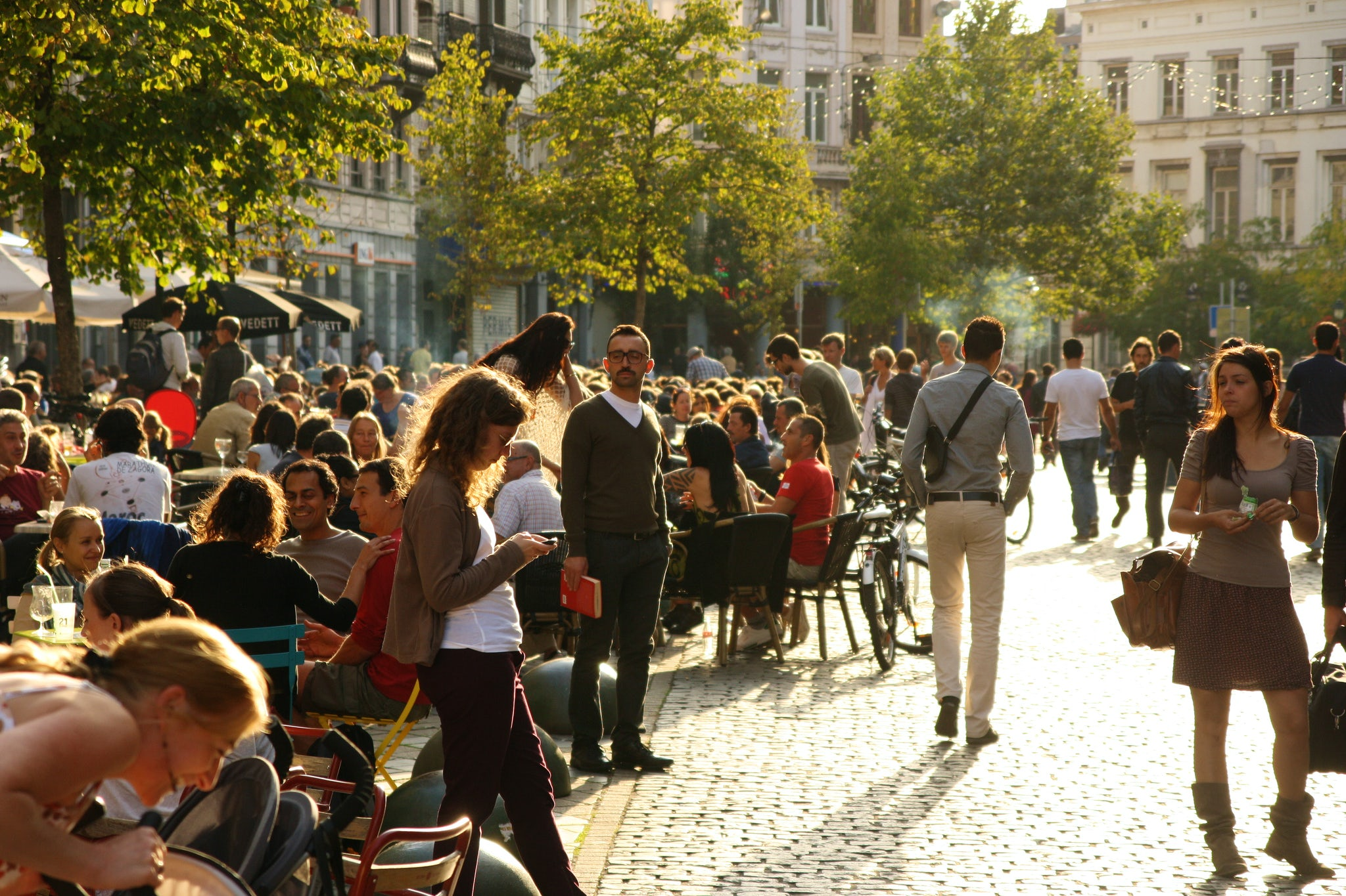 Multi-cultural and artistic neighbourhood: Parvis of Saint-Gilles, Brussels