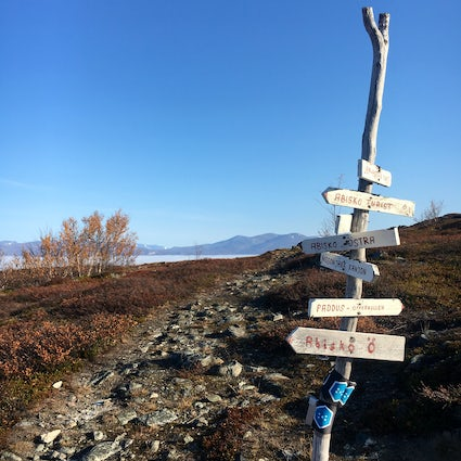 Hiking near Abisko National Park