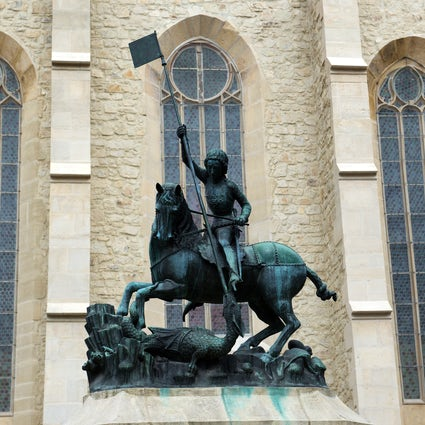 The story of the monument of Saint George killing the dragon in Cluj-Napoca