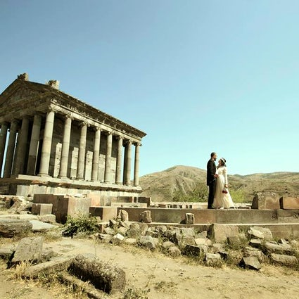 Pagan temple Garni- the summer residence of Armenian kings