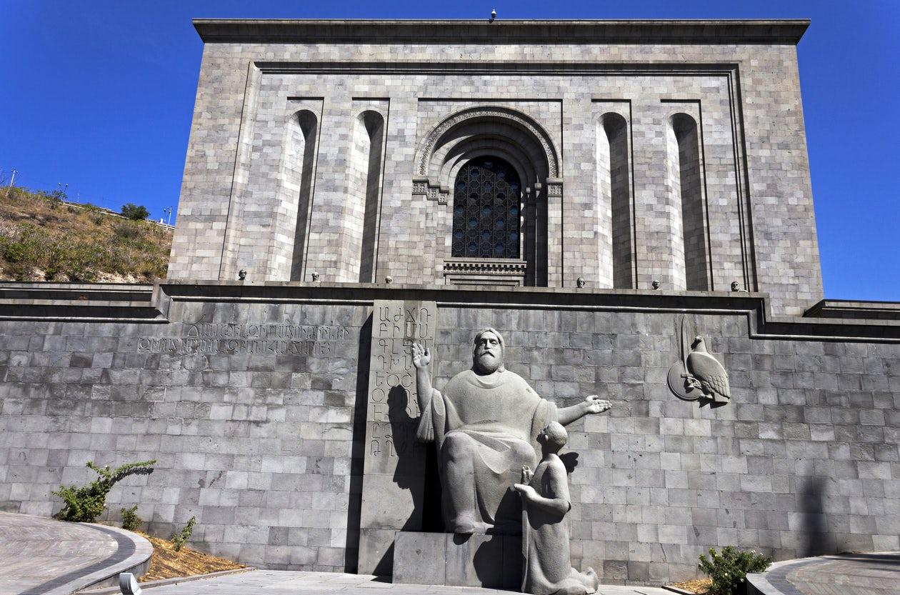The Matenadaran- repository of ancient manuscripts in Yerevan