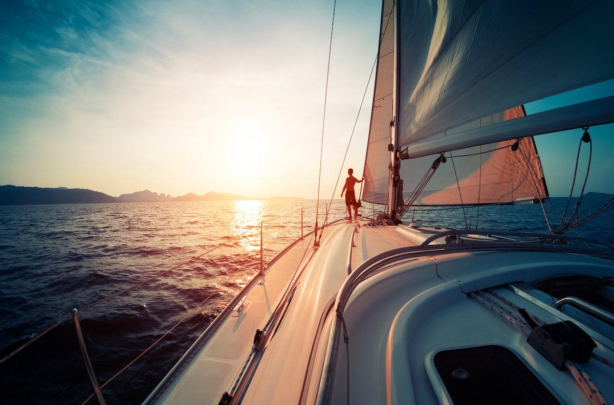 Sailing in Italy's Ligurian Sea