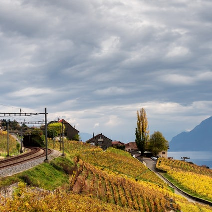 The GoldenPass Line: Snaking from the Lake Through the Mountains