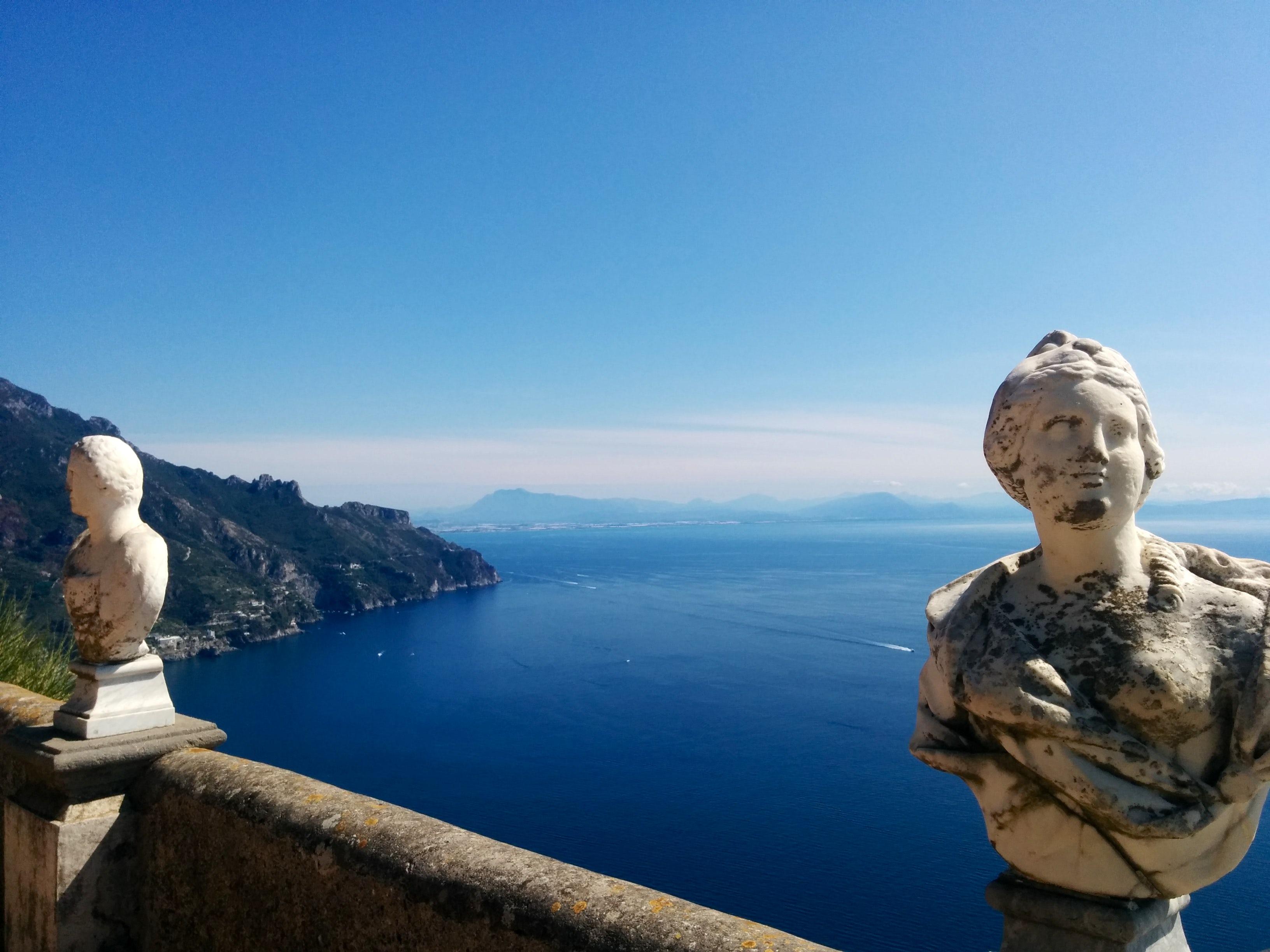 The breathtaking Terrace of Infinity in Villa Cimbrone, Ravello