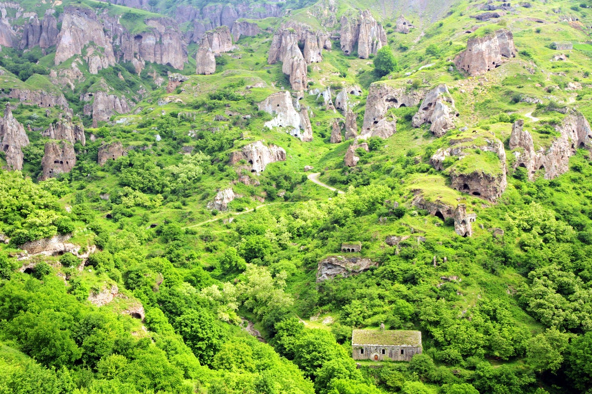 Khndzoresk- cave village in Armenia