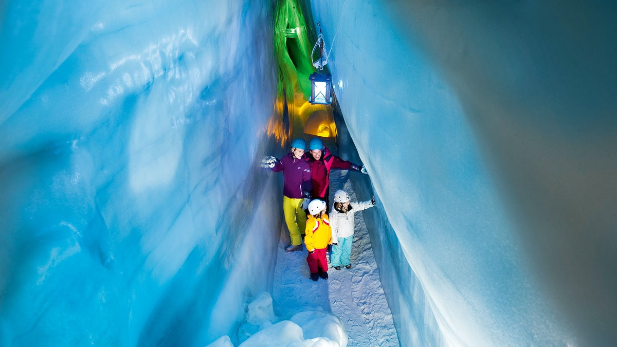 Ice Palace in the Heart of Hintertux Glacier