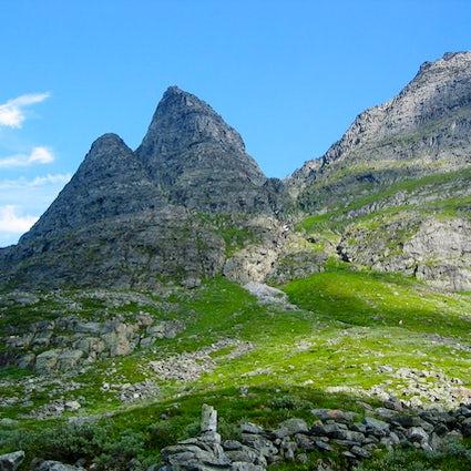 Norwegian Christmas mountain Innerdalstårnet