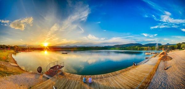The deepest lake in Slovenia: Lake Velenje
