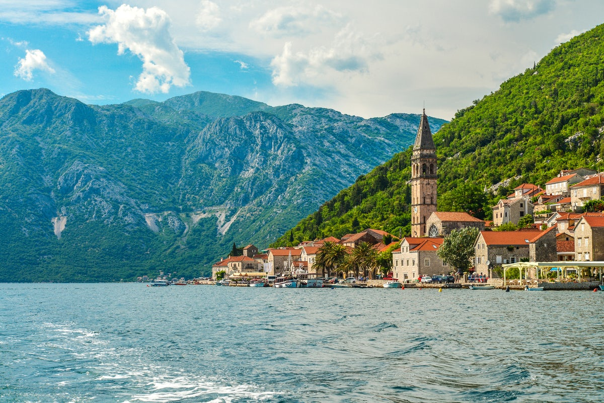 Perast - tiny charming city of the Montenegrin coast
