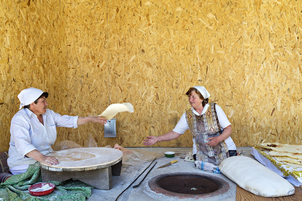 Armenian Lavash: The longest bread you've ever seen