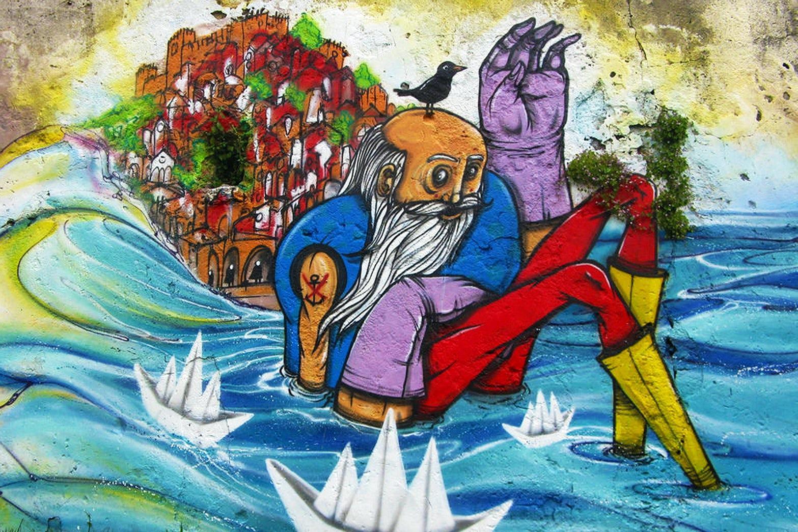 Urban Art in Lisboa 5: urban riverside