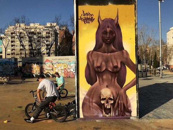 The Barcelona graffiti scene and its correlation to skateboarding