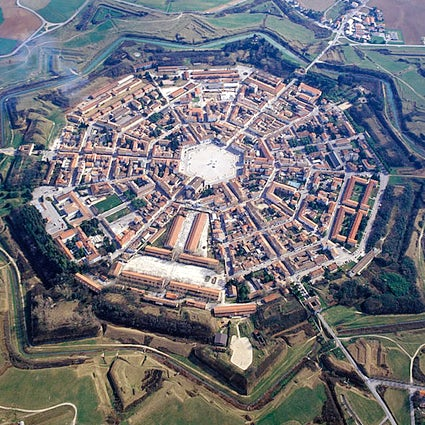 Palmanova, the star-shaped city