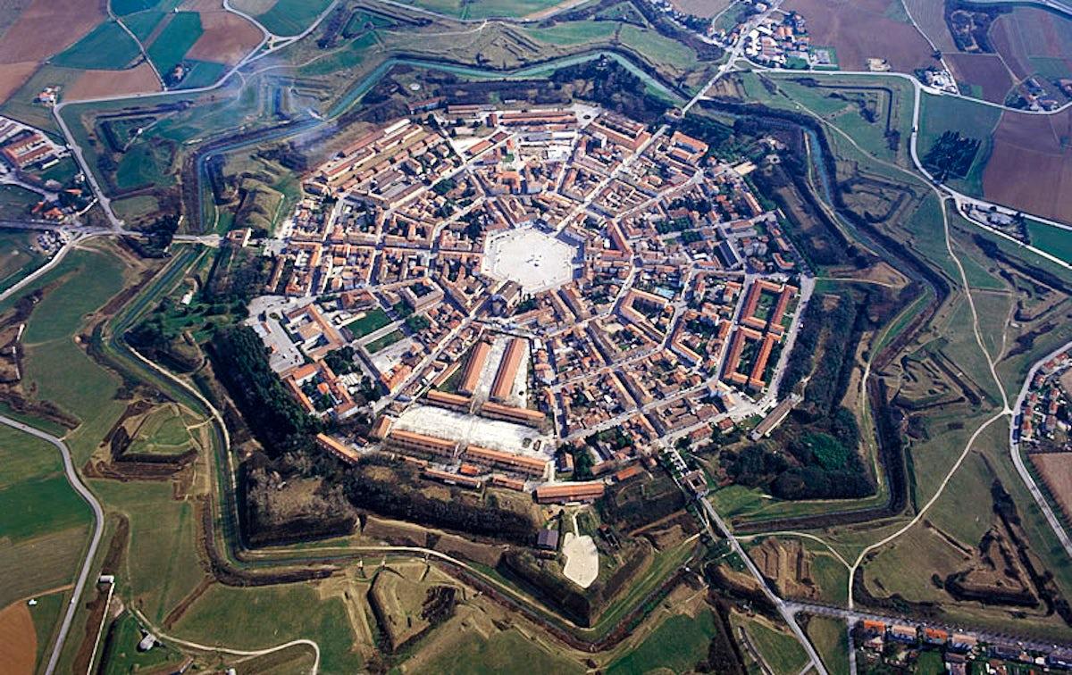 Palmanova, the star-shaped city