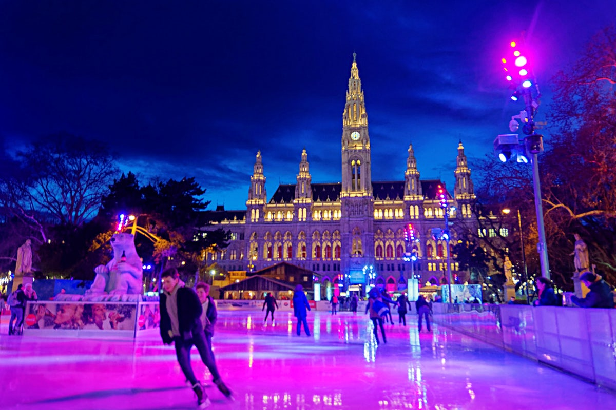 Ice Skating in the Heart of Vienna