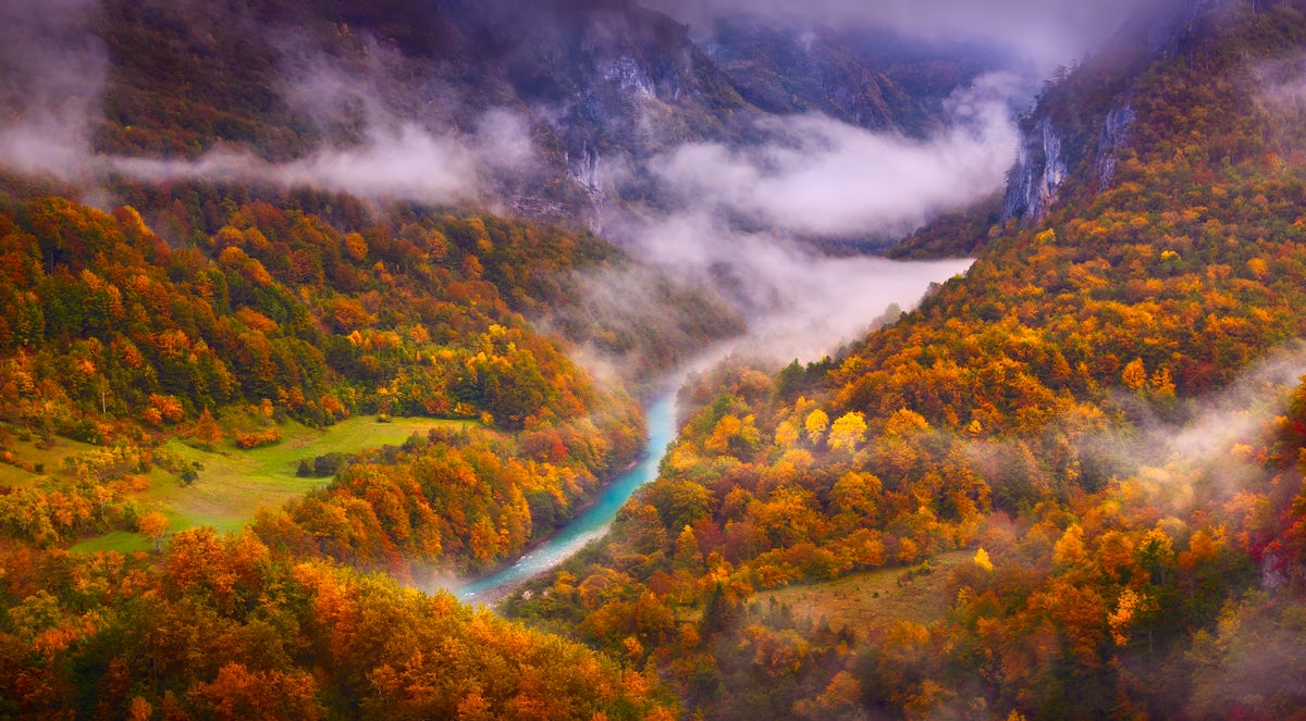 Profound beauty of the deepest European canyon