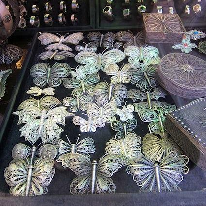 Macedonian jewellery: silver filigree