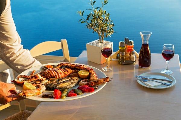 Taste seafood on the coast of the Khazar