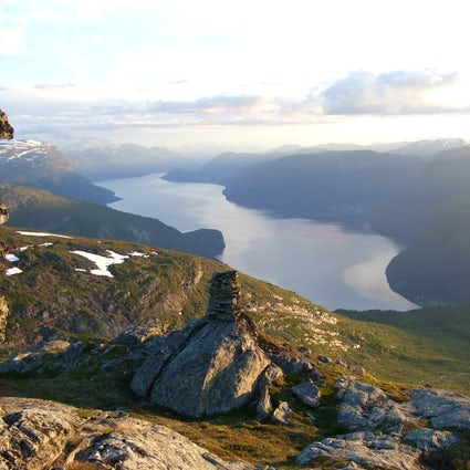 Europe's deepest and cleanest lake Hornindalsvatnet