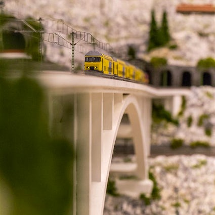 One kilometer and fifty meters of rail in the room - Backo Mini Express Museum